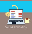 online education eps10 vector image vector image