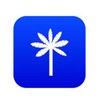 palm tree icon digital blue vector image