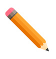 Pencil with eraser Isolated Flat design vector image vector image