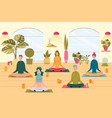 people at yoga class flat vector image vector image