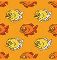 piranha seamless pattern vector image