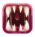 predator mouth app icon vector image vector image