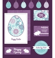 purple and blue floral abstract set of vector image vector image