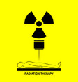 radiation therapy medical logo icon design vector image vector image