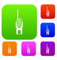 radio transmitter set collection vector image vector image