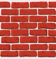 red brick wall texture vector image