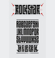 rockstar - original font suitable for t-shirt vector image