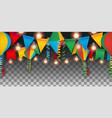 seamless festa jununa party banner vector image vector image