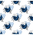 Seamless pattern with cartoon fly vector image vector image
