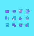 set simple line icons software testing vector image vector image