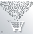 shopping bag icon flat abstract background