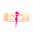 Shopping in France and Italy vector image vector image