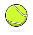 simple tennis ball vector image vector image