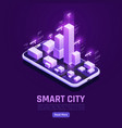 smart city isometric poster vector image