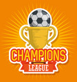 soccer sport trophy cup icon vector image vector image