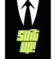 Suit up vector image