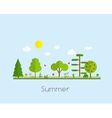 Summer Time Background in Modern Flat Design vector image vector image