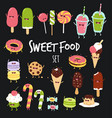sweet fast food set vector image