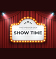 theater cinema sign movie light frame retro vector image