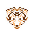 tribal bear color animal print for t vector image