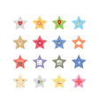 Web star icons vector image vector image