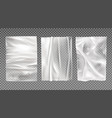 white wet paper bad glued wheatpaste set isolated vector image vector image