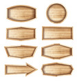 wooden sign boards for saleprice and discount vector image vector image