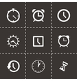 clock icon set vector image