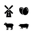 farming simple related icons vector image