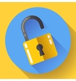 lock icon with long shadow Flat design vector image