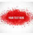 big red grunge splash on white background vector image
