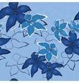 blue vector seamless flower background pattern flo vector image