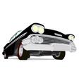 Vintage muscle cars cartoon sketch vector image