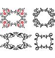 a set decorative floral frames vector image vector image