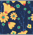 abstract color chamomile flowers seamless blue vector image
