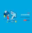 accounting horizontal banner vector image