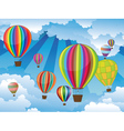 Air Balloons in the Sky6 vector image vector image