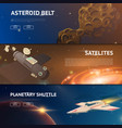 astronomical galaxy space background planets in vector image