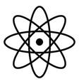 atom the black color icon vector image