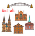 australia architecture sydney landmark buildings vector image