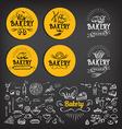 bakery icon design menu badge vintage vector image