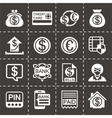 Bank icon set vector image vector image