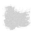 black halftone spot vector image vector image