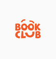 book club logo vector image