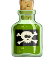 bottle poison vector image