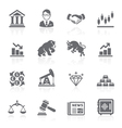 Business and finance stock exchange icons vector | Price: 1 Credit (USD $1)