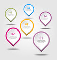 business infographics design elements vector image vector image