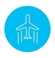 Cargo plane line icon vector image vector image