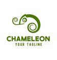 chameleon logo design template vector image vector image
