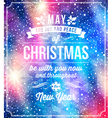 Christmas lettering greetings vector image vector image